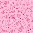 Seamless pattern for Valentine's day — Stock Vector