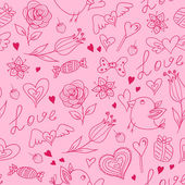 Seamless pattern for Valentine's day — Stok Vektör