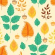 Seamless pattern with autumn leaves — Stock Vector #40230983