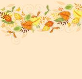 Fond avec des feuilles d'automne — Vecteur