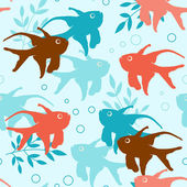 Seamless pattern with tropical fishes — Stock Vector