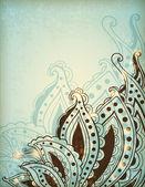 Decorative hand drawn background  — Stock Vector