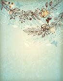 Vintage hand drawn floral background — Stock Vector