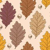 Oak leaves and acorns — Stock Vector