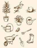 Ferramentas de jardim — Vetorial Stock