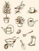 Zahradní nářadí — Stock vektor