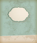 Vintage background with label — Stock Vector