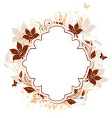 Decorative vector background with flowers — Stockvektor
