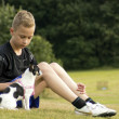 Boy with pet chihuahua — Stock Photo