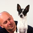 Man with pet chihuahua — Stock Photo #31341733