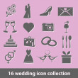 Wedding icons — Stock Vector #11679674