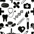 Doodle medical seamless pattern — Stockvektor