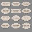 Vector de stock : Vintage labels