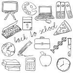 Doodle school images — Stock Vector