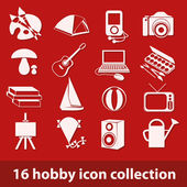 16 hobby icon collection — Vecteur