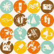 Seamless retro summer pattern — Vector de stock #12564654