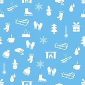 Vinter seamless mönster — Stockvektor