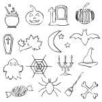 Doodle halloween images — Stock Vector #12644875