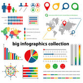 Infographics collection — Stok Vektör