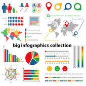 Infographics koleksiyonu — Stok Vektör