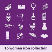 Women icon collection — Stock vektor
