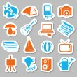 Stock Vector: Hobby stickers