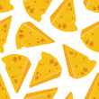 Cheese seamless pattern — Vettoriali Stock