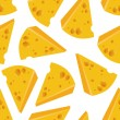 Cheese seamless pattern — Stockvectorbeeld