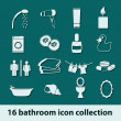 Stok Vektör: Bathroom icons