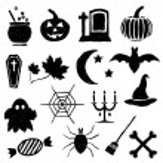 Doodle halloween images — Stock Vector #12865371