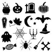 Doodle halloween images — Stock Vector