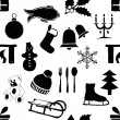 Seamless doodle christmas pattern — Stock vektor