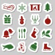 Christmas stickers — Stock Vector #13175628