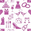 Doodle wedding seamless pattern — Imagen vectorial