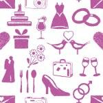 Doodle wedding seamless pattern — Stock Vector