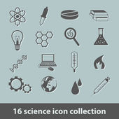 Science icon collection — Stock Vector