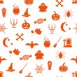 Royalty-Free Stock Vector: Seamless halloween pattern