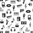 Seamless music pattern - Stockvectorbeeld