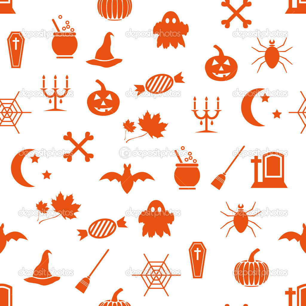 Seamless halloween pattern — Stock Vector #13344373
