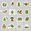 Forest stickers — Stock Vector #13564710