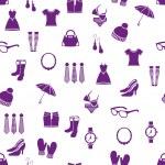 Seamless fashion pattern — Stock Vector