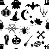 Seamless doodle halloween pattern — Stock Vector