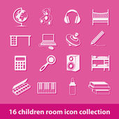 Children room icons — Stock Vector