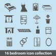 Stock Vector: Bedroom icons
