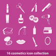 Cosmetics icons — Stock Vector