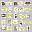 Home equipment stickers — Stock Vector