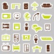 Royalty-Free Stock Vector Image: Home equipment stickers