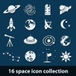Stok Vektör: Space icons