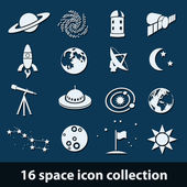 Space icons — Stock Vector