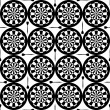Seamless dartboard pattern — Stock Vector